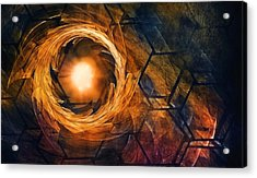 Vortex Of Fire Acrylic Print