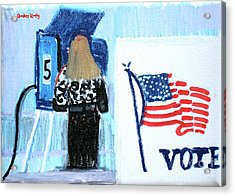 Voting Booth 2008 Acrylic Print by Candace Lovely