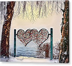 Acrylic Print featuring the digital art Vow Of Love by Pennie McCracken