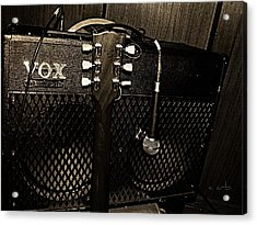 Vox Amp Acrylic Print by Chris Berry