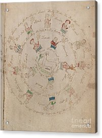 Voynich Manuscript Astro Aries Acrylic Print
