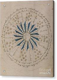 Voynich Manuscript Astro Rosette 1 Acrylic Print
