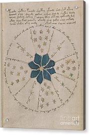 Voynich Manuscript Astro Rosette 2 Acrylic Print