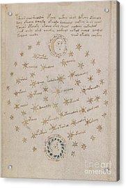Voynich Manuscript Astro Sun And Moon 1 Acrylic Print