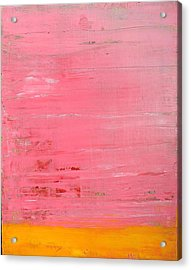 Pink Oil On Board 16 X 20 Acrylic Print