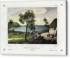 Acrylic Print featuring the drawing Vue De La Baie Dumata Umatic Bay by dUrville duSainson