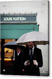 Acrylic Print featuring the photograph Vuitton by Empty Wall