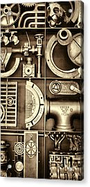 Vulcan Steel Steampunk Ironworks Acrylic Print by Kathy Clark
