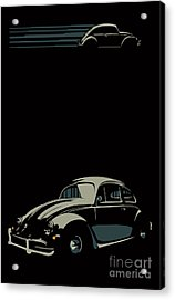 Acrylic Print featuring the digital art Vw Beatle by Sassan Filsoof