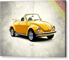 Vw Beetle 1972 Acrylic Print by Mark Rogan