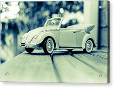 Vw Beetle Convertible Acrylic Print by Jon Woodhams