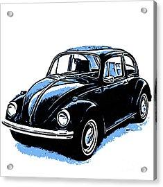 Vw Beetle Graphic Acrylic Print
