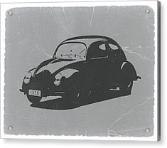Vw Beetle Acrylic Print by Naxart Studio