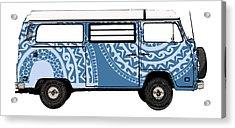 Vw Blue Van Acrylic Print