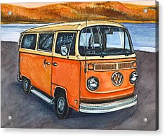 Acrylic Print featuring the painting Ryan's Magic Bus by Katherine Miller