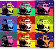 Vw Bus Pop Art Acrylic Print