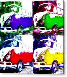 Vw Bus Quad Color Acrylic Print