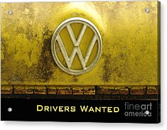 Vw Drivers Wanted Acrylic Print