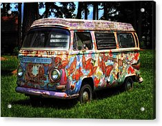 Acrylic Print featuring the photograph Vw Psychedelic Microbus by Bill Swartwout Fine Art Photography