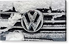 Vw Snow Day Acrylic Print