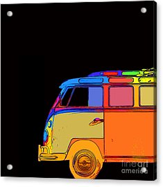 Vw Surfer Bus Square Acrylic Print