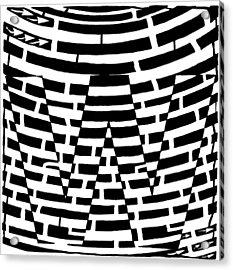 W Maze Acrylic Print by Yonatan Frimer Maze Artist