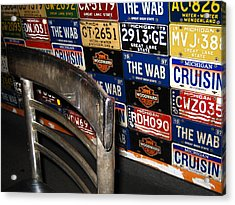 Wab Plates Acrylic Print by Sheryl Burns
