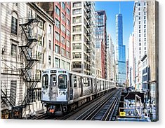 The Wabash L Train Acrylic Print