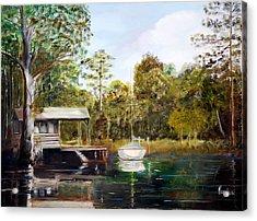 Waccamaw River Sloop Acrylic Print by Phil Burton