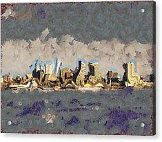 Wacky Philly Skyline Acrylic Print by Trish Tritz