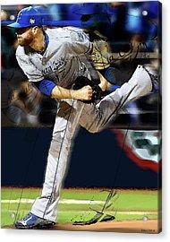Wade Davis Painting Game 5 World Series 2015 Champions Kansas City Royals Acrylic Print
