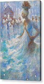 Acrylic Print featuring the painting Wade In The Water by Gertrude Palmer