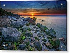 Wading River Sunset Acrylic Print by Rick Berk