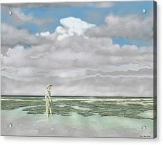 Wading The Salt Flats Acrylic Print
