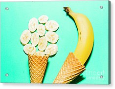 Waffle Cones With Fresh Banana Acrylic Print by Jorgo Photography - Wall Art Gallery