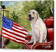 Acrylic Print featuring the painting Wag The Flag by Molly Poole