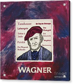 Wagner Portrait Acrylic Print by Paul Helm