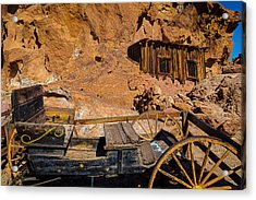 Wagon And Miners Hut Acrylic Print by Garry Gay