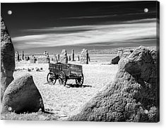 Wagon At Fort Union Acrylic Print by James Barber
