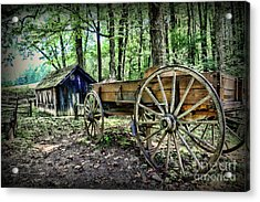 Wagon At The Cabin Acrylic Print