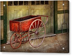 Wagon - That Old Red Wagon  Acrylic Print