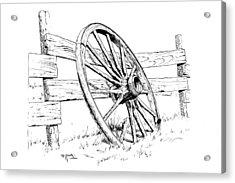 Wagon Wheel Acrylic Print by Bob Hallmark