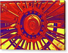 Acrylic Print featuring the photograph Wagon Wheel by Cynthia Powell