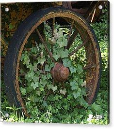 Wagon Wheel Acrylic Print by Dennis Stein