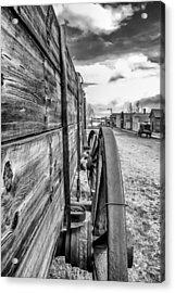 Wagon Wheel Acrylic Print by Dennis Wagner