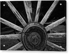 Wagon Wheel Acrylic Print by Eric Liller