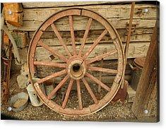 Wagon Wheel Acrylic Print by Jeff Swan
