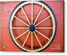 Wagon Wheel Acrylic Print by John S