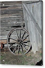Acrylic Print featuring the photograph Wagon Wheel by Nancy Taylor