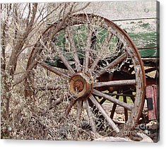 Wagon Wheel Acrylic Print by Robert Frederick